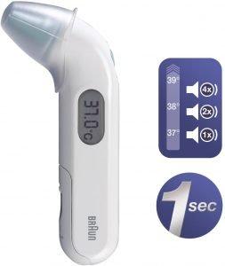 termómetro de oído braun