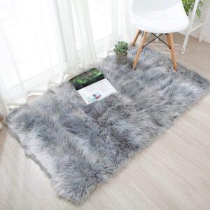alfombra de pelo largo yihaic