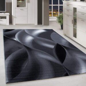 alfombra negra y blanca homebyhome