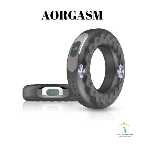 1. Aorgasms - Anillo Para Pene Cockring 10 patrones de vibración