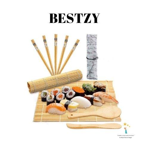 3. BESTZY 10pcs Kit para Hacer Sushi