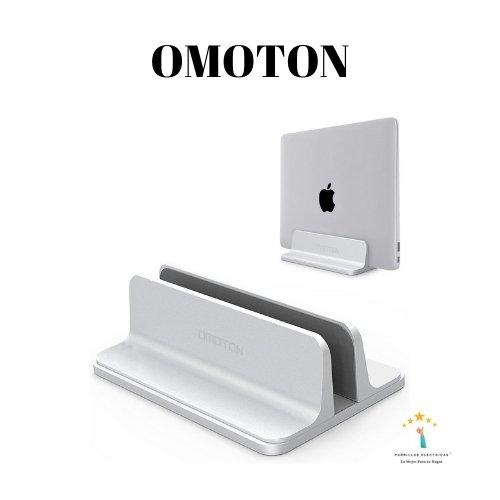 5.  OMOTON Soporte Vertical Portátil - soporte para Macbook