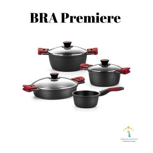 1.BRA Premiere - Batería 4 pièces de aluminio fundido con antiadherente