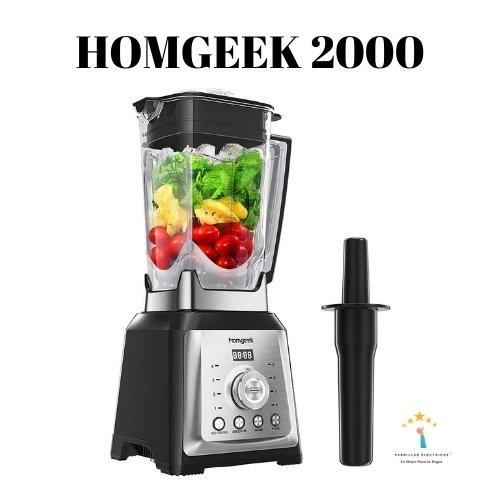 2. Homgeek batidora de vaso y  licuadora profesional 2000w