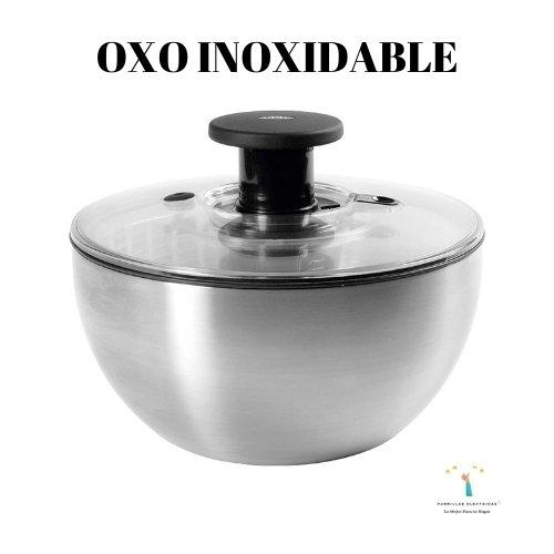 centrifugadora de lechuga oxo acero