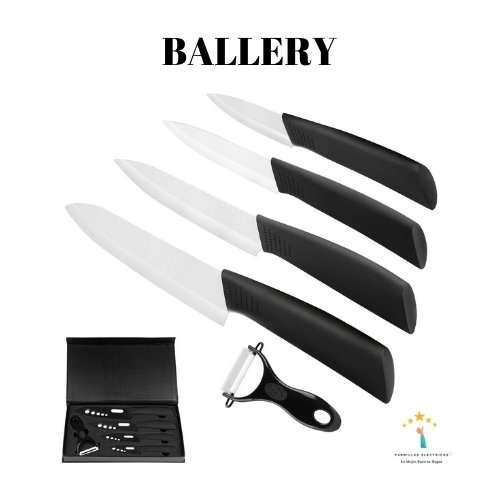 5. Ballery cuchillos de cocina y 1 pelador de cerámica