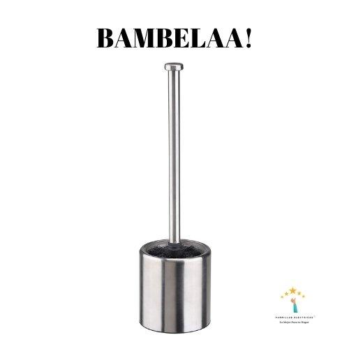 3.¡Escobilla de acero inoxidable Bambelaa! - escobilla baño barata