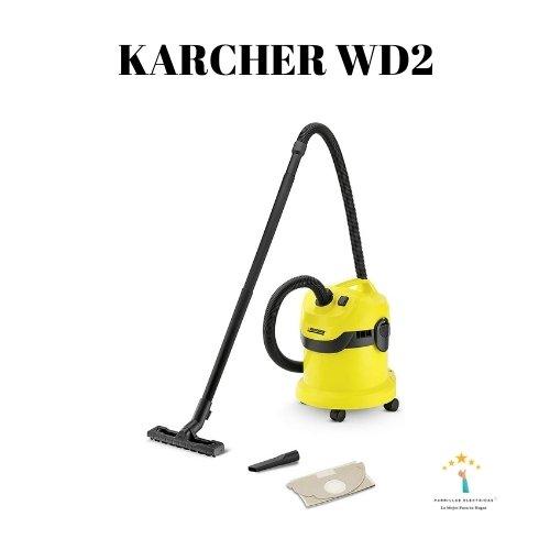 4. Aspirador Kärcher WD2 - Depósito de acero y aspiración de campeonato