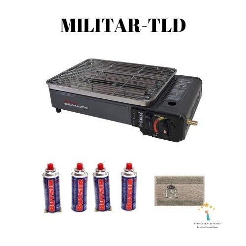 2. Mini barbacoa militar (de gas)
