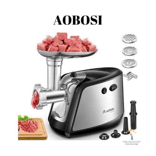 3. El mejor gasto: Aobosi Picadora de Carne Eléctrica