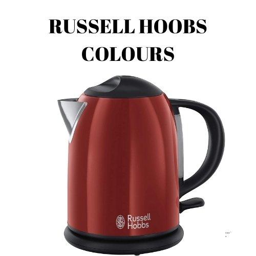 2.  Russell Hobbs Colours Red- Hervidor de agua compacto de1L 2200W. 20191-70