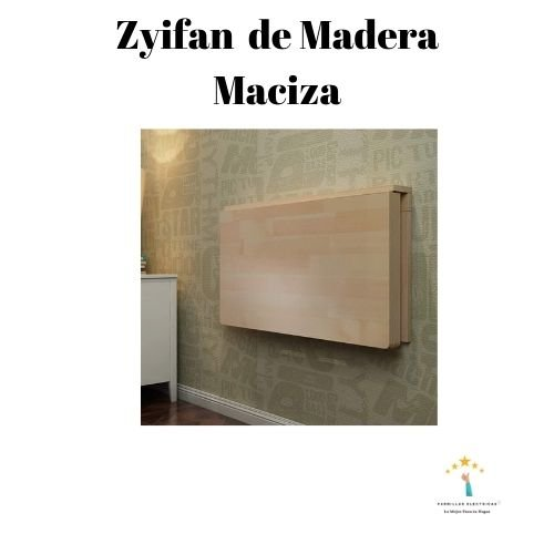 4. Mesa plegable de madera maciza montada en la pared Zyifan