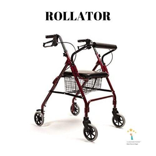 2. Andador rollator de aluminio ultraligero