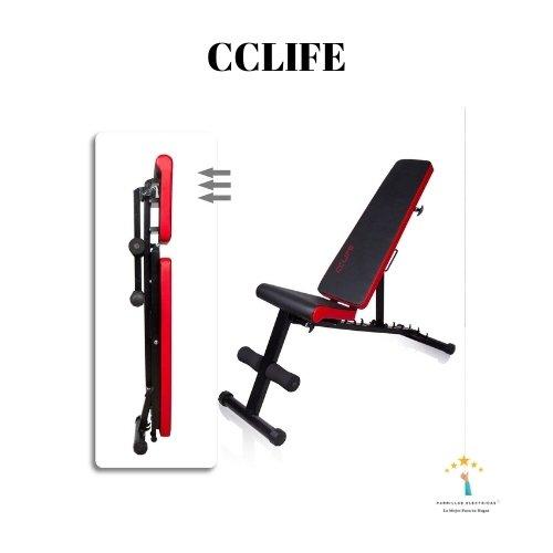 5.  CCLIFE - mejor banco musculación plegable