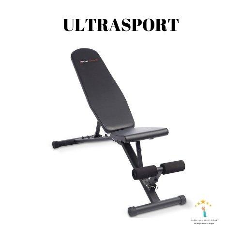 4. Banco de pesas plegable multifunción Ultrasport.