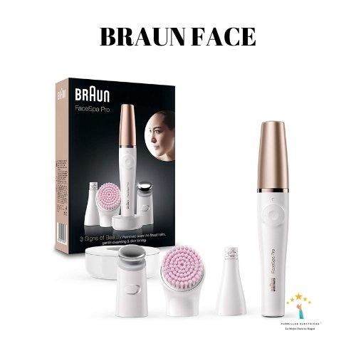 2. Mejor depiladora eléctrica mujer: Braun FaceSpa Pro