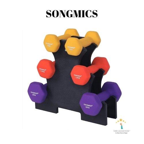 4. YC SONGMICS Juego de 6 mancuernas