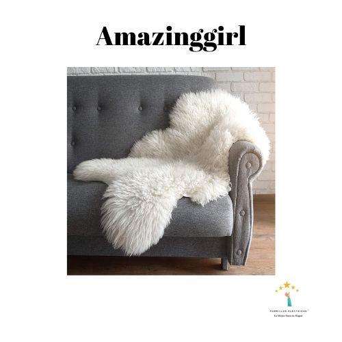 5. Amazinggirl alfombra de pelo largo