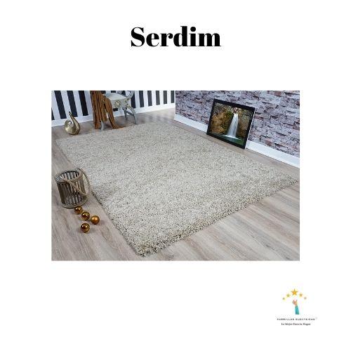 4. Vimoda alfombra de pelo largo