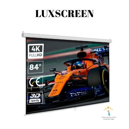5. Luxscreen La pantalla de proyector que tiene la mejor relación calidad-precio