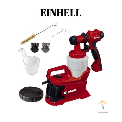 5. Sistema eléctrico de pulverización de pintura Einhell