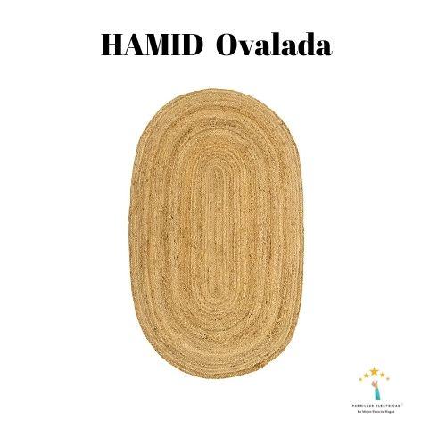 5. HAMID Alfombra Yute Alhambra Ovalada