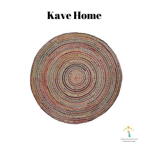 2. Kave Home alfombra redonda de yute barata