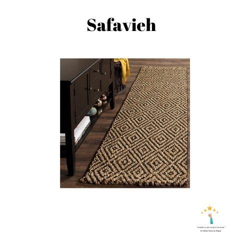 4. Alfombra mimbre natural Safavieh